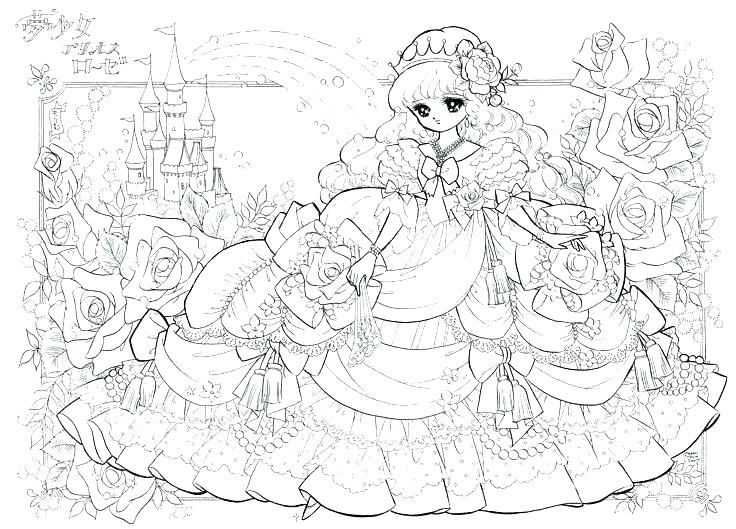 anime princess coloring pages at getdrawings free for