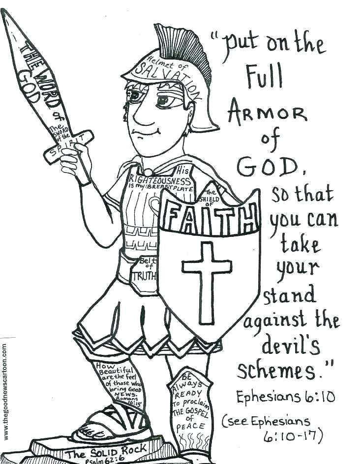 armour of god coloring page god is my shield coloring page