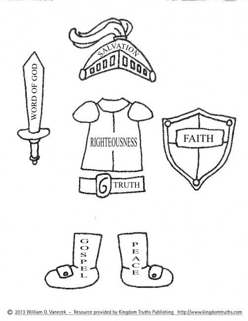 armour of god coloring page printable coloring pages