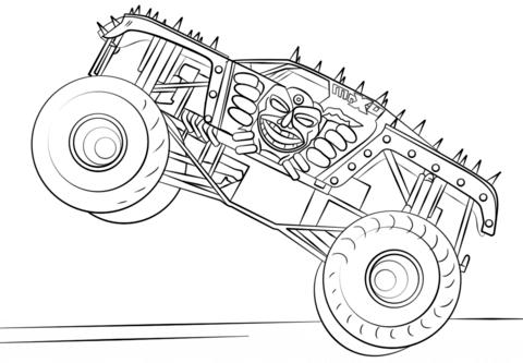 ausmalbild max d monster truck ausmalbilder kostenlos zum
