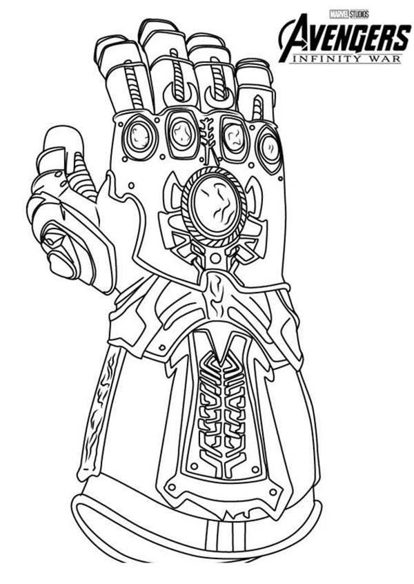awesome infinity gauntlet coloring page free printable