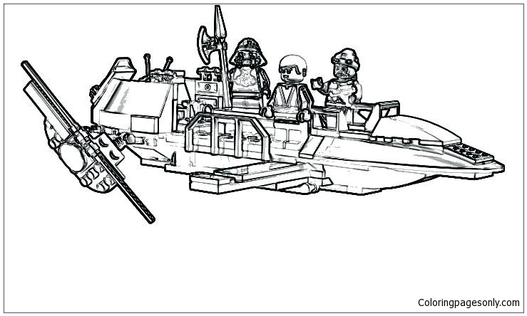 awesome lego starwars coloring page free coloring pages online