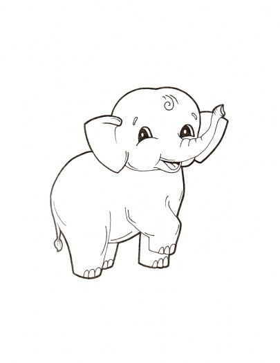 ba elephant coloring pages cute ba elephant coloring
