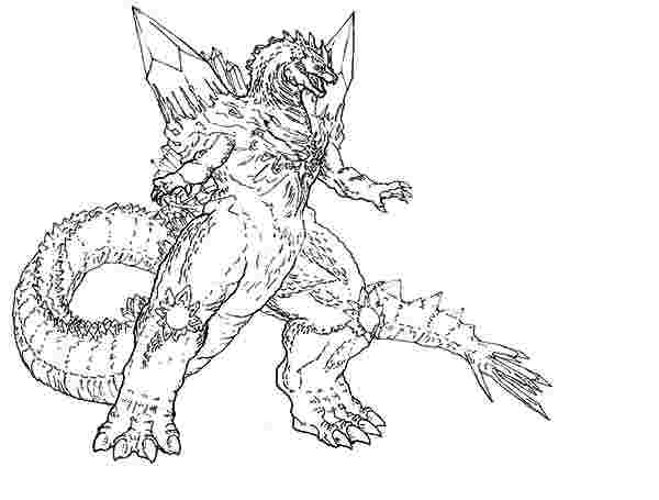 ba godzilla coloring pages godzilla coloring pages free