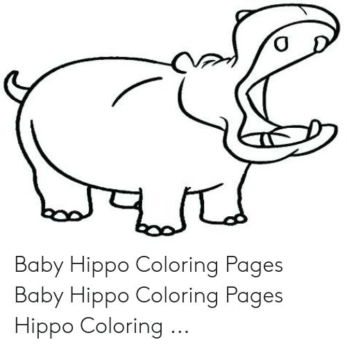 ba hippo coloring pages ba hippo coloring pages hippo