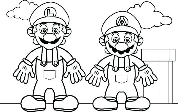 ba luigi coloring pages mario and page celfclub