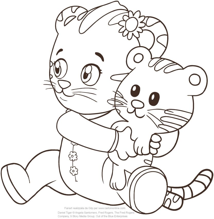 ba margaret the sister of daniel tiger coloring page to