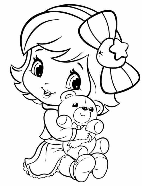 ba strawberry shortcake cute coloring pages coloring
