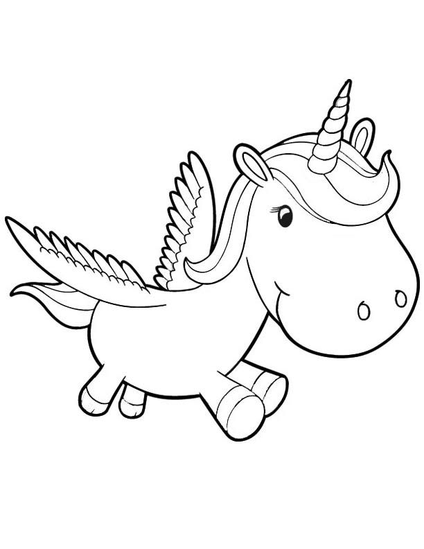 Baby Unicorn Coloring Pages Pictures - Whitesbelfast