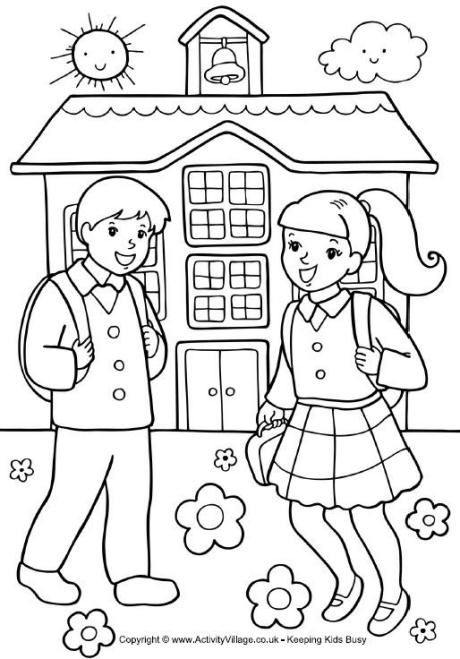 back to school coloring sheets school coloring pages