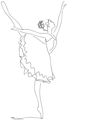 ballet coloring pages free coloring pages