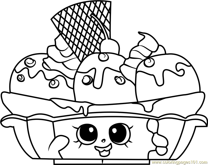 banana splitty shopkins coloring page free shopkins
