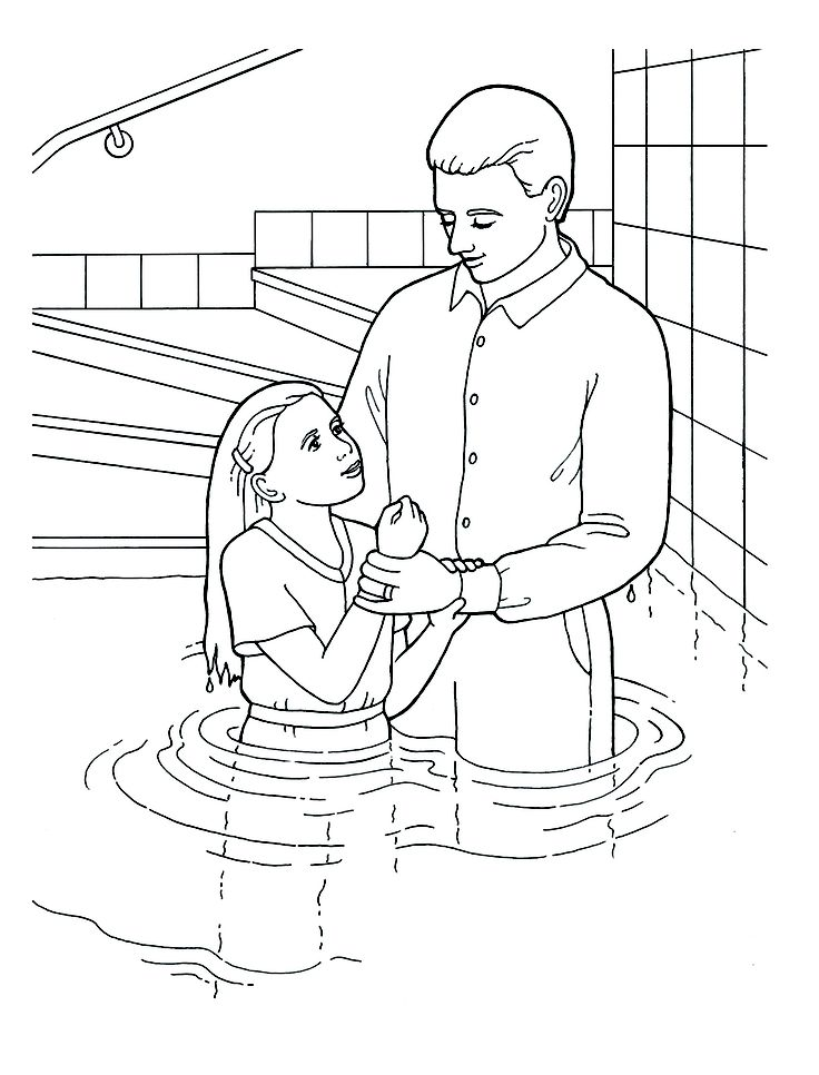 baptism day coloring pages lds clip art library