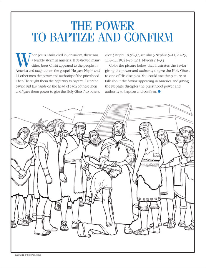 baptism lds coloring page luxury photos lds coloring pages