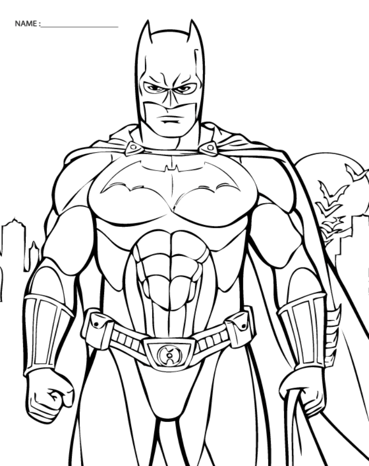 batman coloring pages to print pin on everyday download