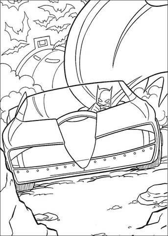 batmobile coloring page free printable coloring pages