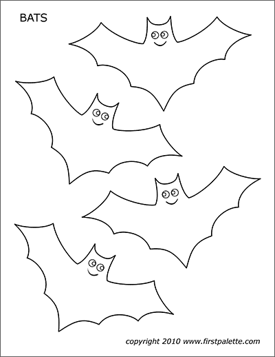 bats free printable templates coloring pages