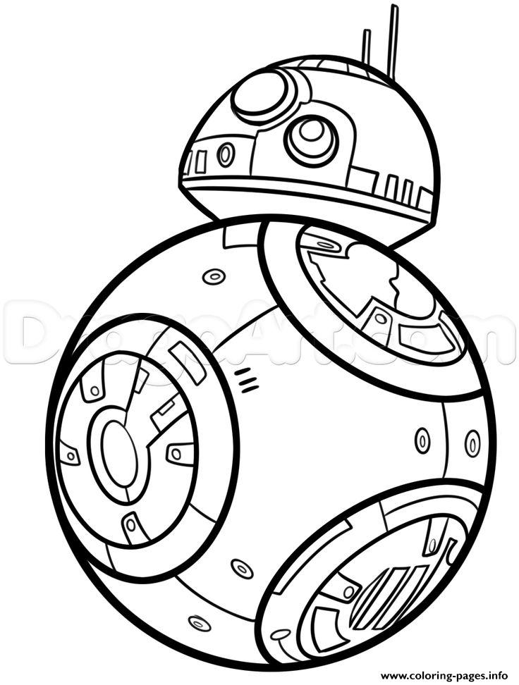bb8 de starwars coloring pages printable