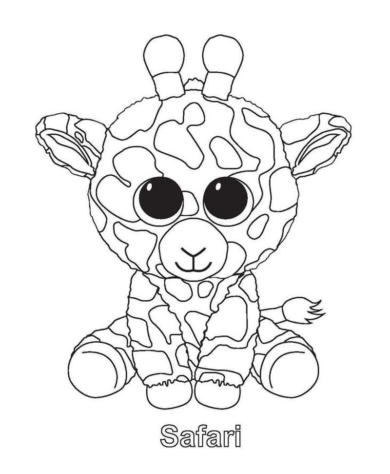 beanie boo coloring pages that you can print pusat hobi