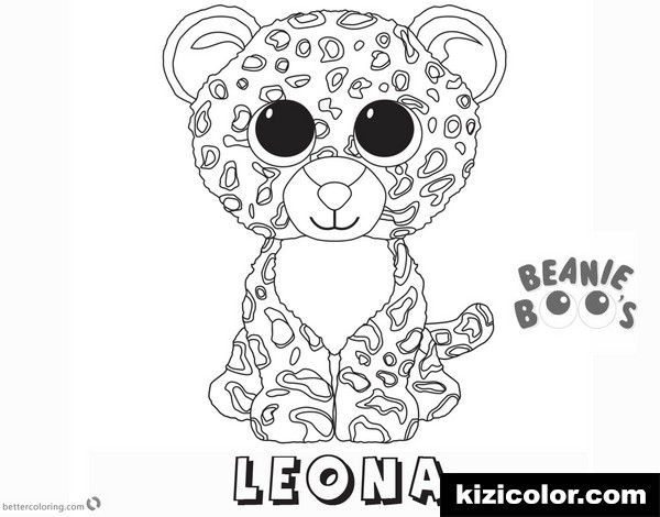 beanie boo pages leona kizi free coloring pages for
