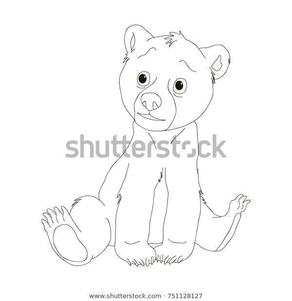 bear coloring pages cartoon coloring book stock vector