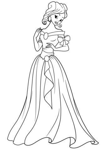 beautiful princess coloring page free printable coloring pages