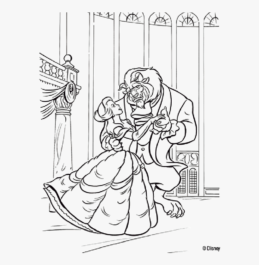 beauty and the beast coloring page free printable beauty