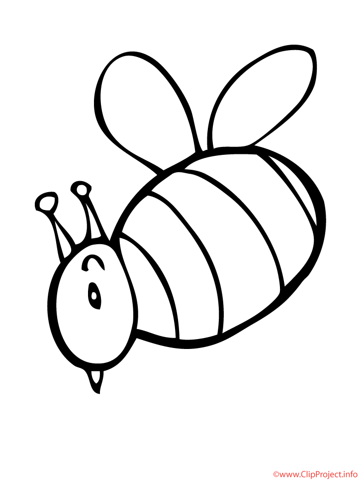 bee printable coloring page