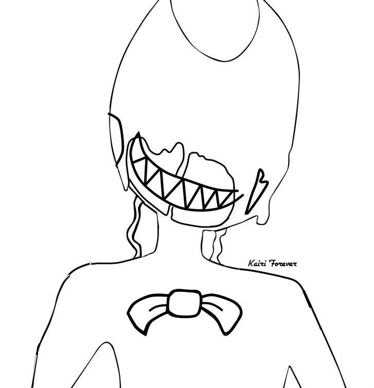 bendy coloring pages printable