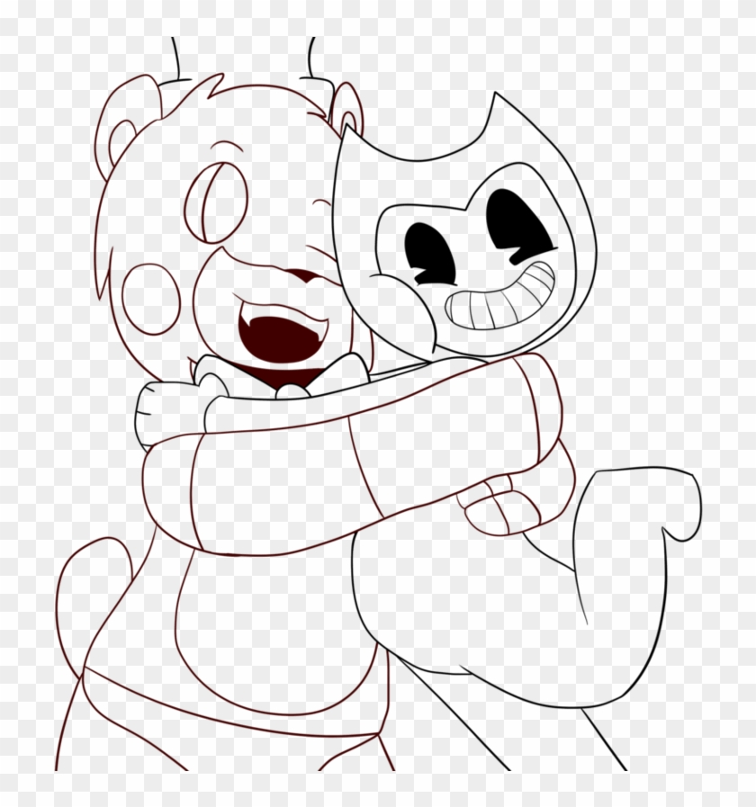 best bendy and the ink machine coloring pages free bendy