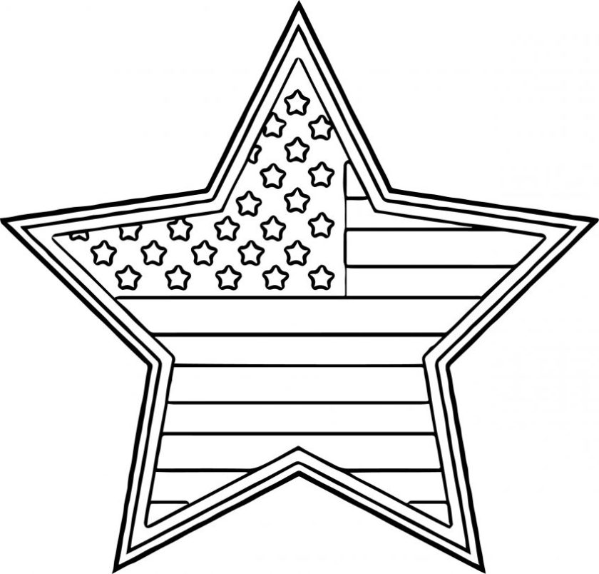 best coloring american flag star page wecoloringpage com