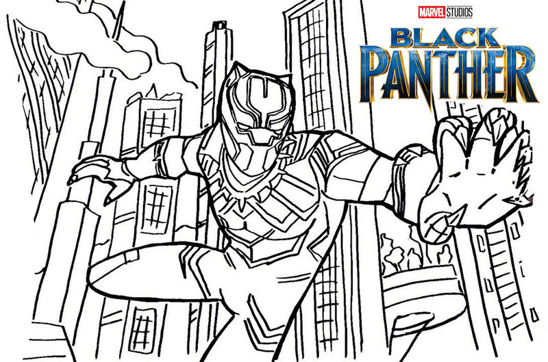 best of black panther coloring pages for kids sugar and spice
