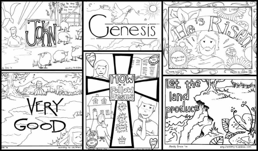 bible coloring pages for kids 100 free printables