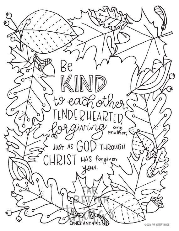 bible verse coloring page ephesians 432 printable digital download bible coloring pages christian kids activity sunday school crafts