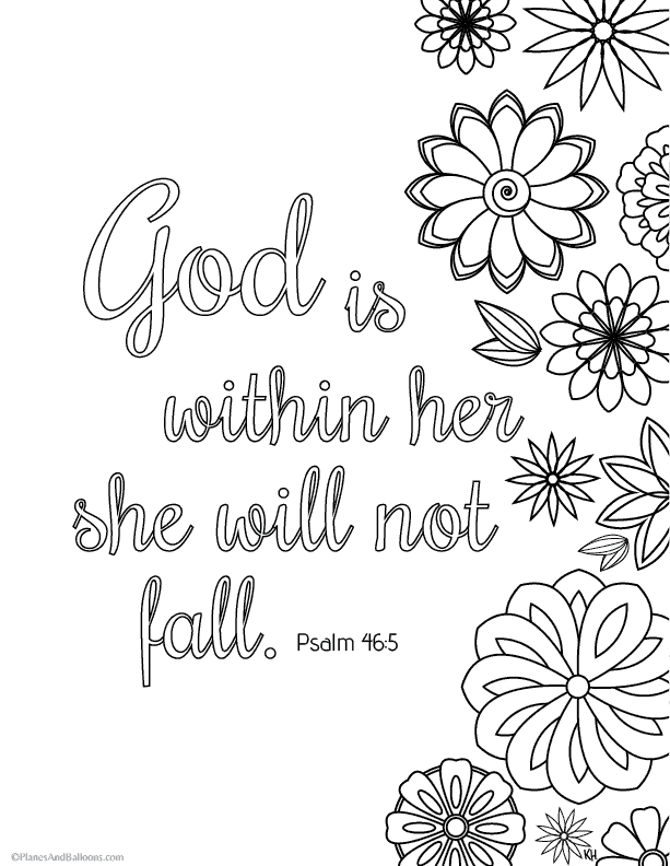 bible verse coloring pages that give you strength to face