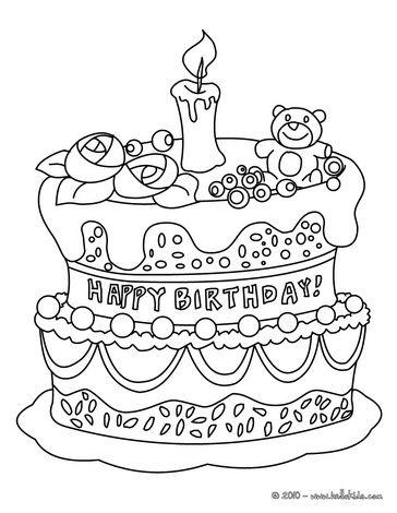 birthday cake coloring page geburtstag malvorlagen