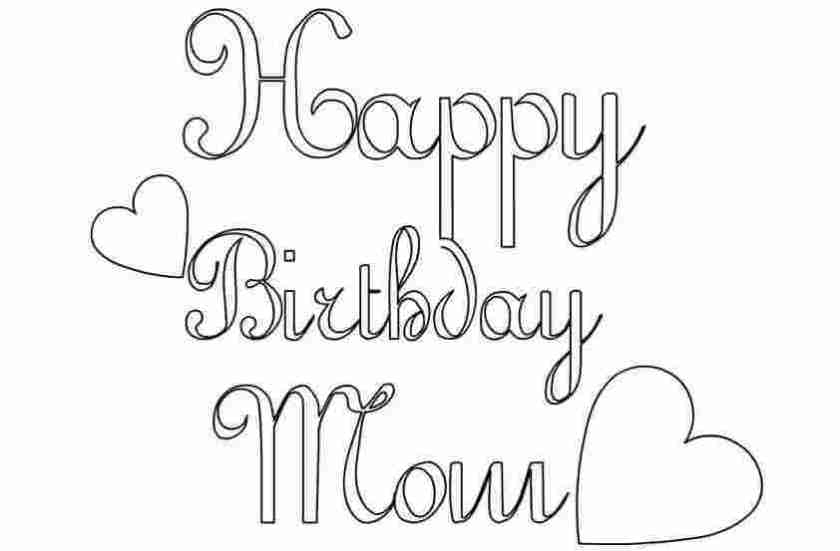 birthday cards for mum printable coloring happy birthday mom