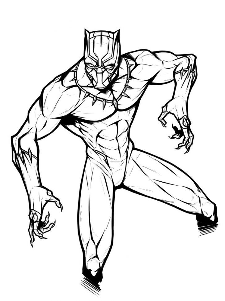 black panther coloring pages black panther drawing