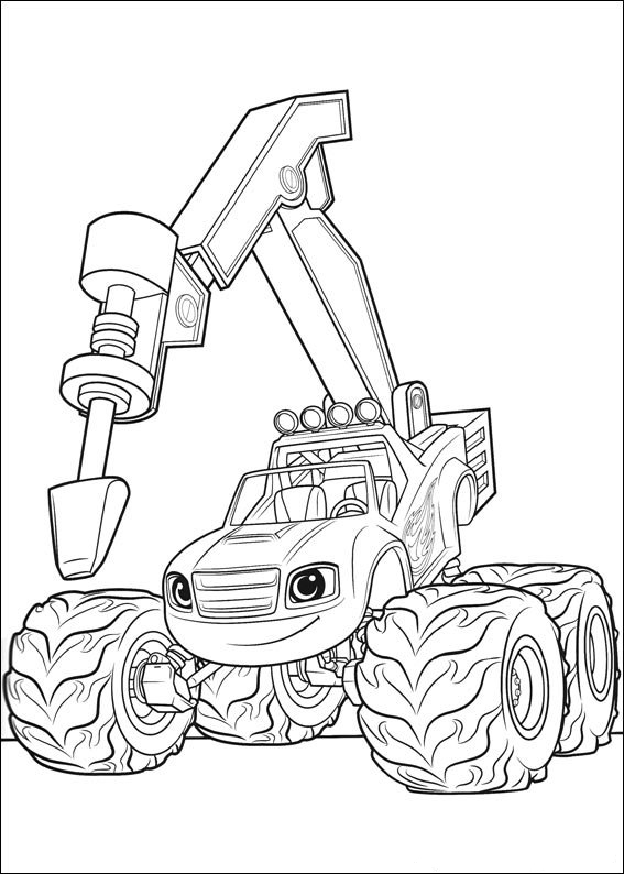 Blaze And The Monster Machines Coloring Pages Picture ...