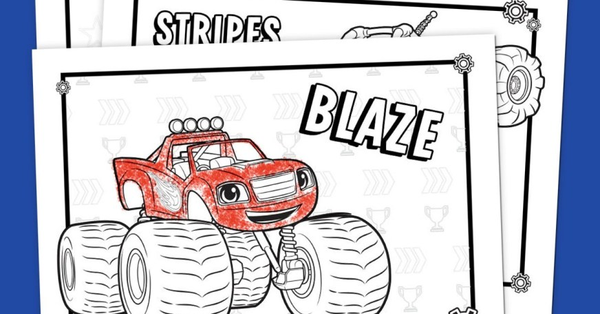 blaze coloring pack nickelodeon parents