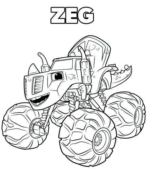 blaze monster machine coloring pages at getdrawings