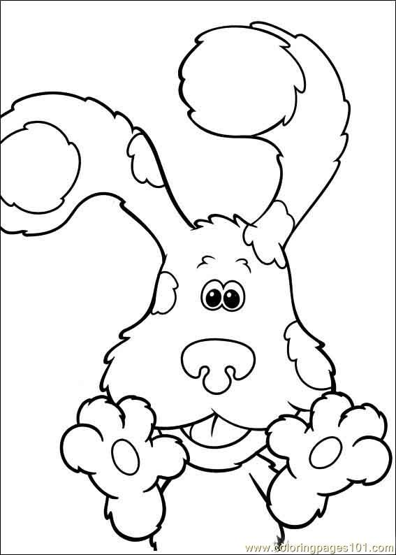 blues clues 08 coloring page free blues clues coloring