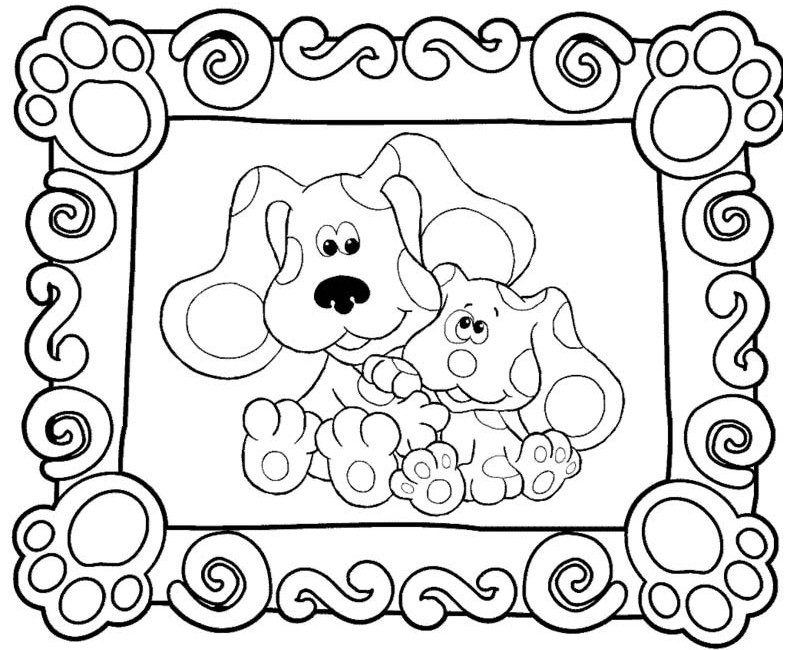 blues clues christmas coloring pages kaigobank