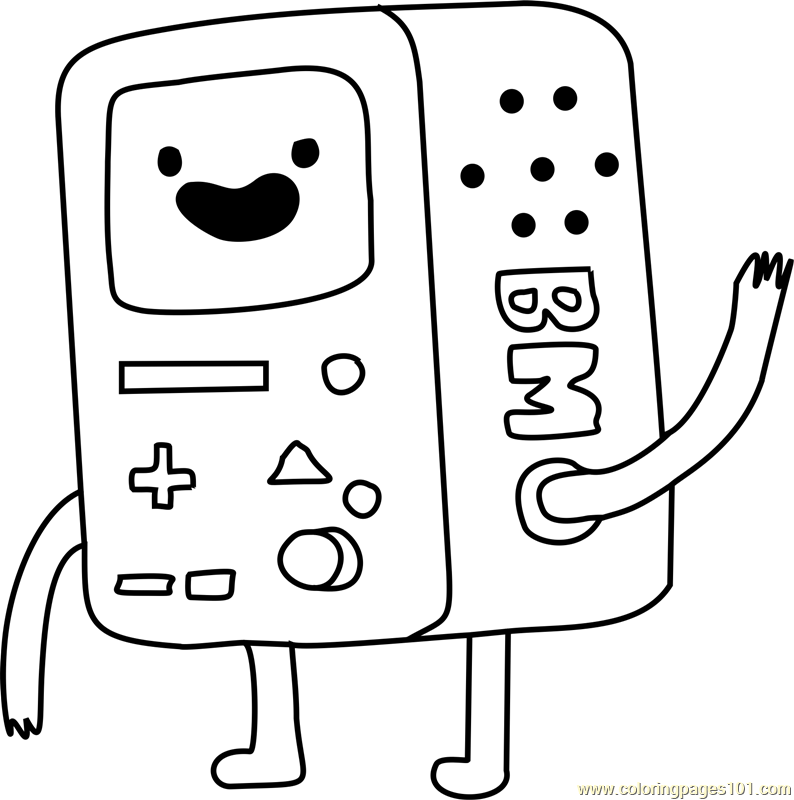bmo coloring page free adventure time coloring pages