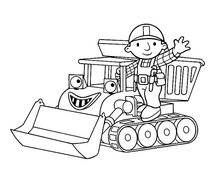 bob the builder coloring pages getcoloringpages druckfertig