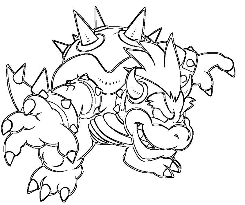 bowser coloring page clip art library