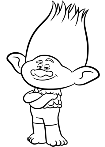 branch from trolls coloring page free printable coloring pages
