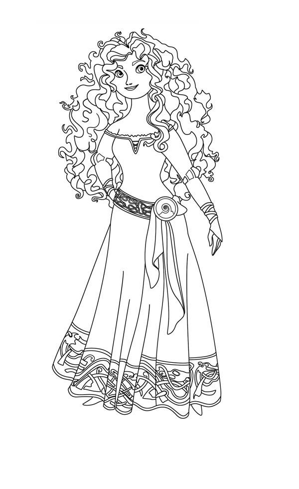 brave disney princess merida in disney brave coloring