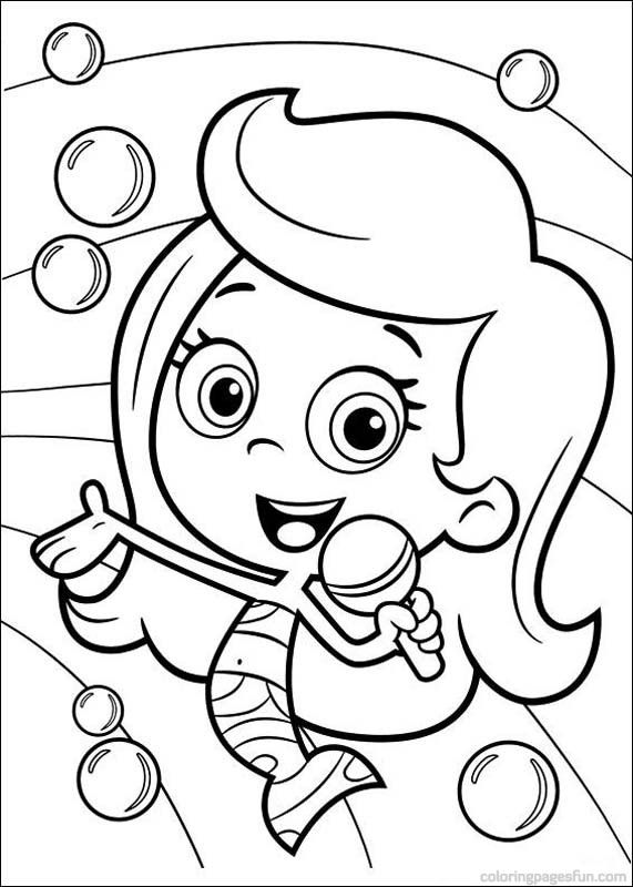 bubble guppies coloring pages 9 pgina para colroear de