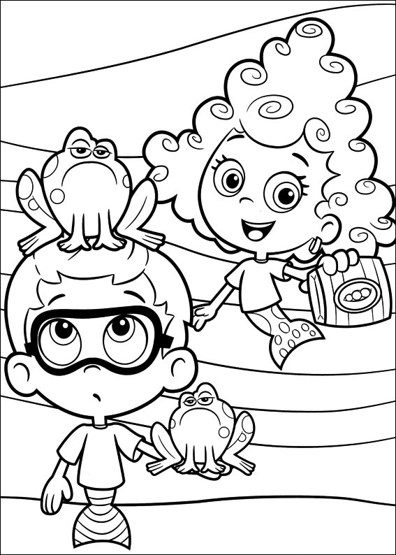 bubble guppies coloring pages the sun flower pages